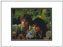 Elijah Wood & Sean Astin Autograph Signed Photo - Lord of the Rings